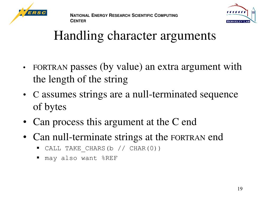 Handling character arguments