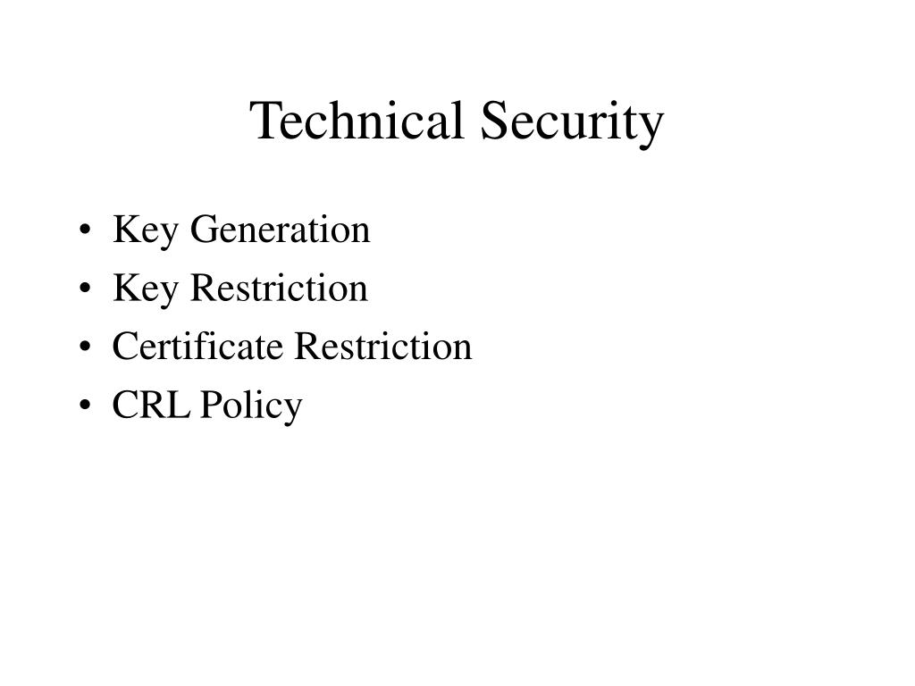 Technical Security