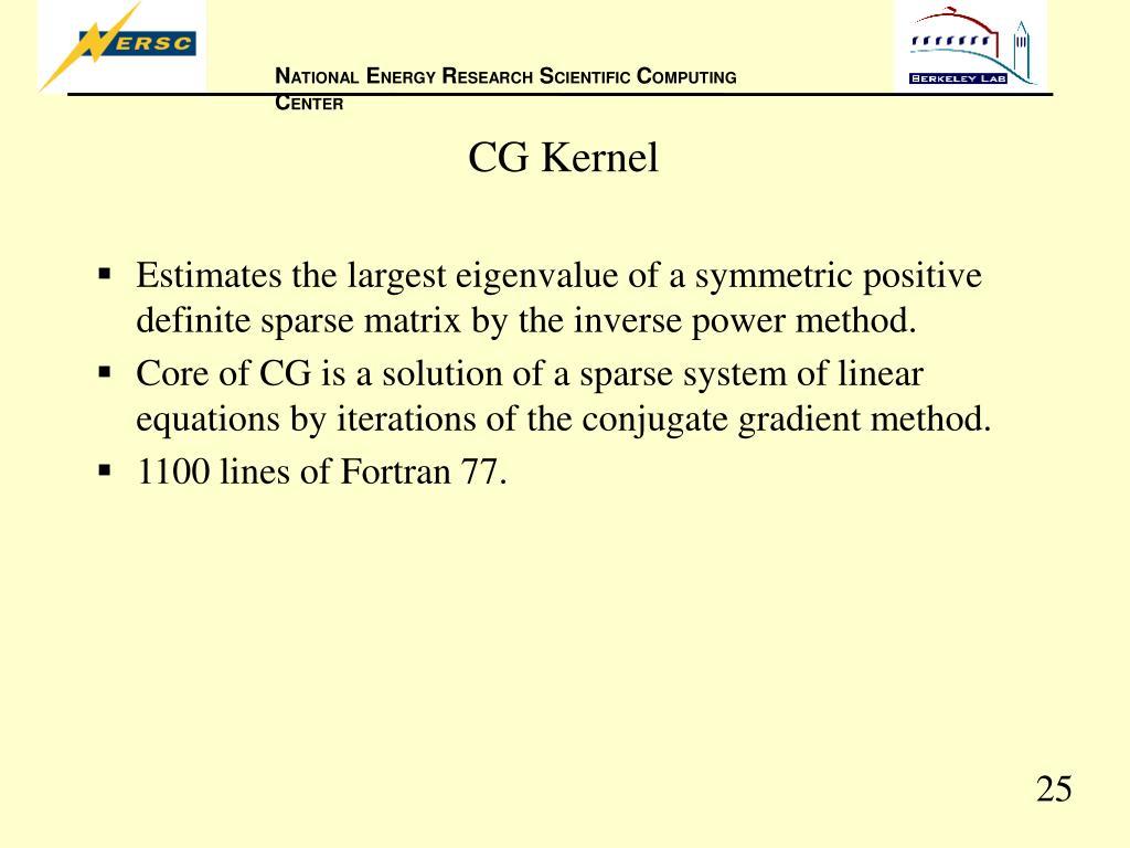 CG Kernel