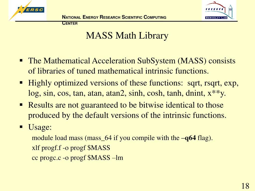 MASS Math Library