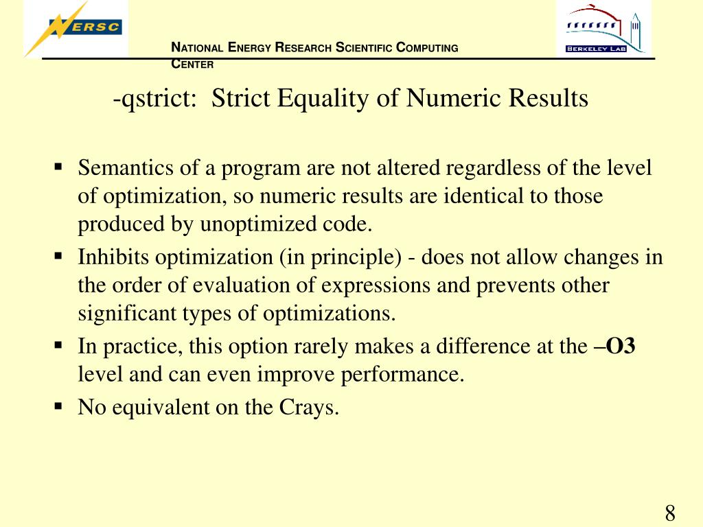 -qstrict:  Strict Equality of Numeric Results