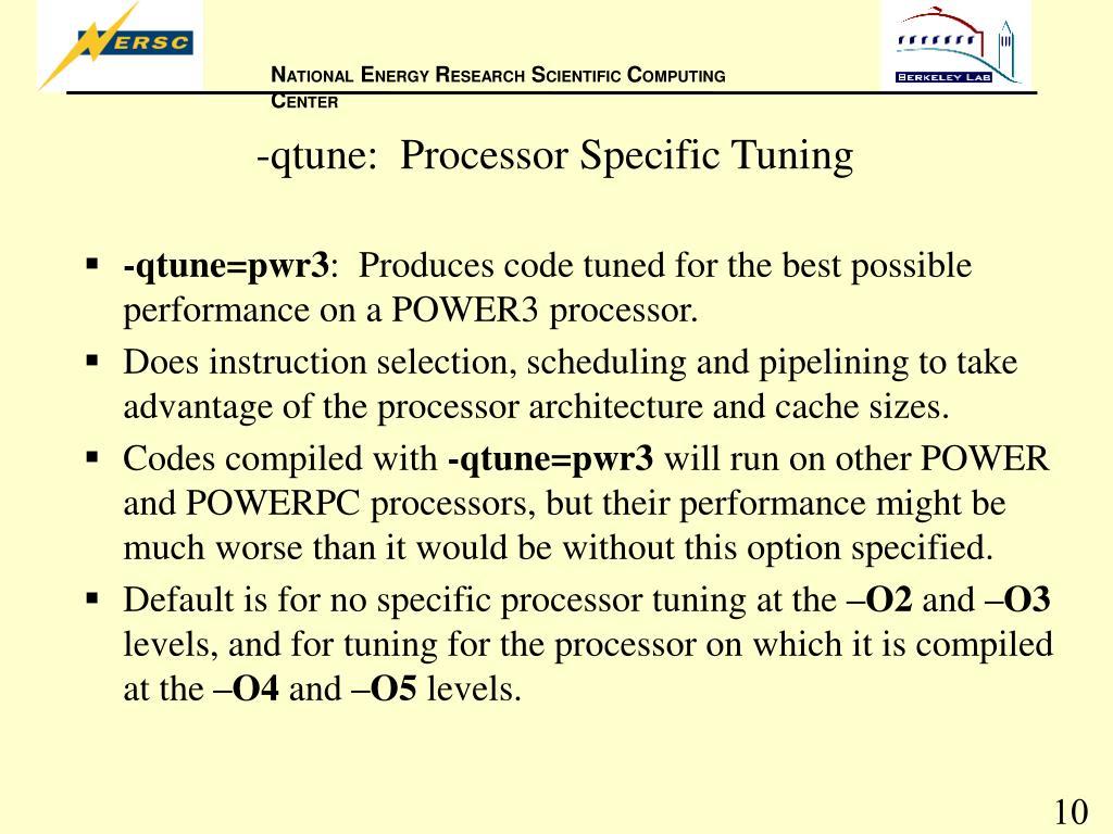 -qtune:  Processor Specific Tuning