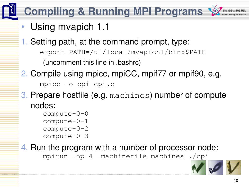 Compiling & Running MPI Programs