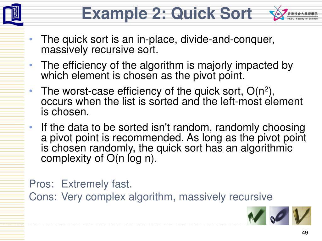 Example 2: Quick Sort