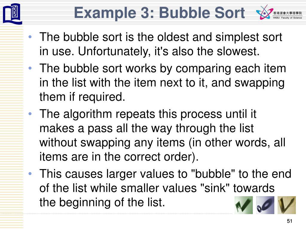 Example 3: Bubble Sort