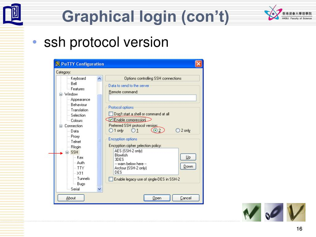 Graphical login (con't)