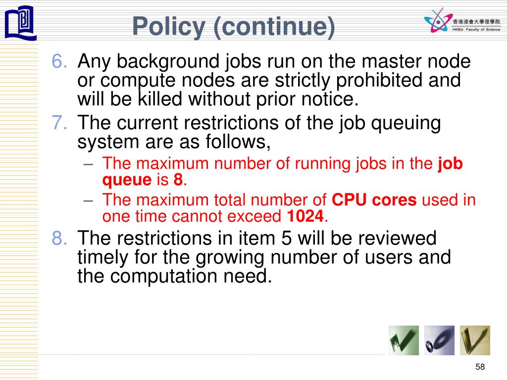 Policy (continue)