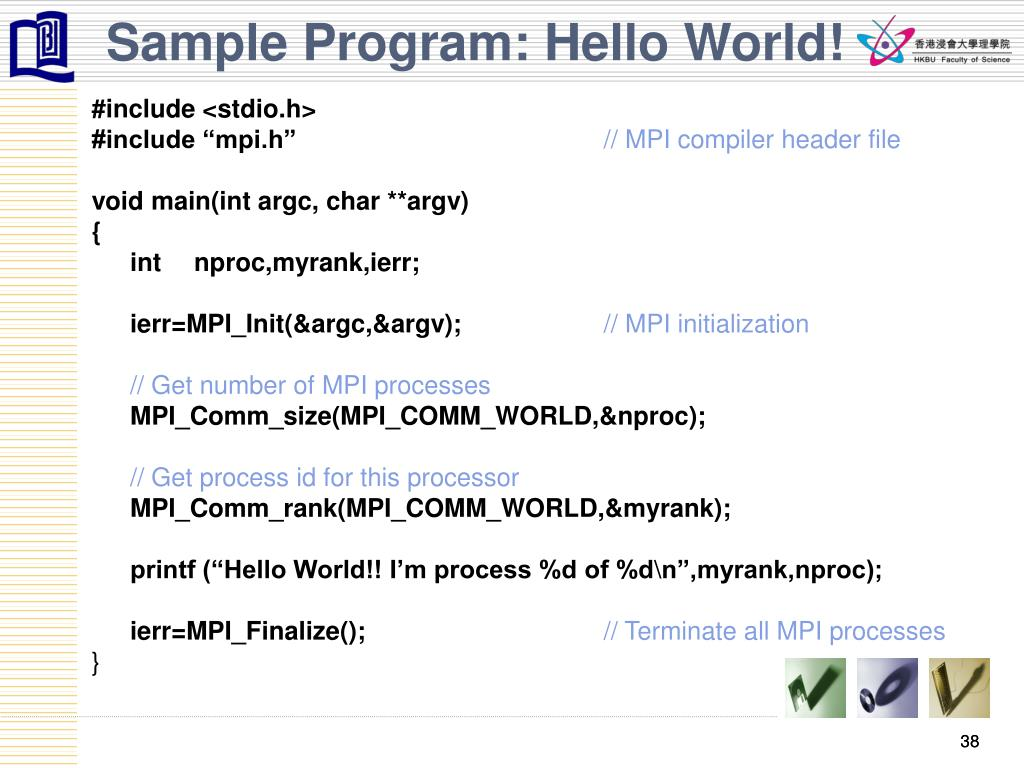 Sample Program: Hello World!