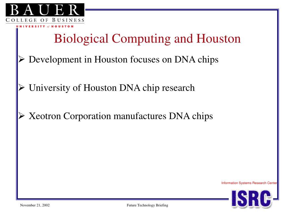 Development in Houston focuses on DNA chips