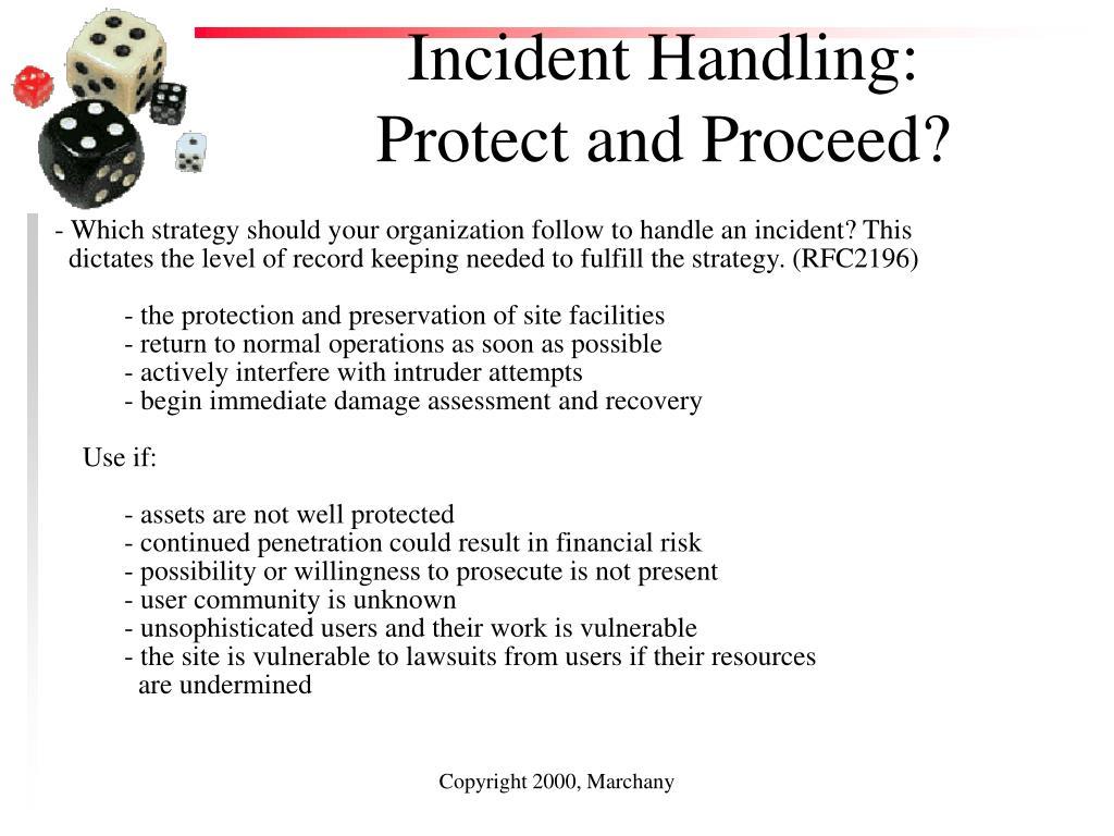 Incident Handling: