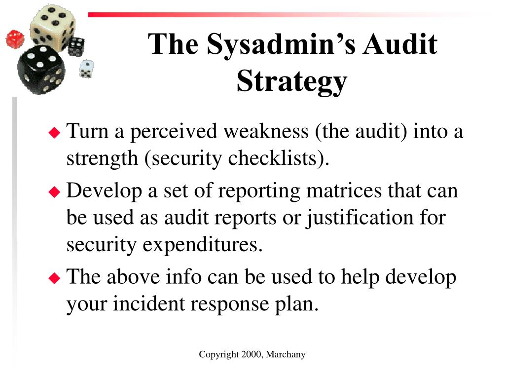 The Sysadmin's Audit Strategy