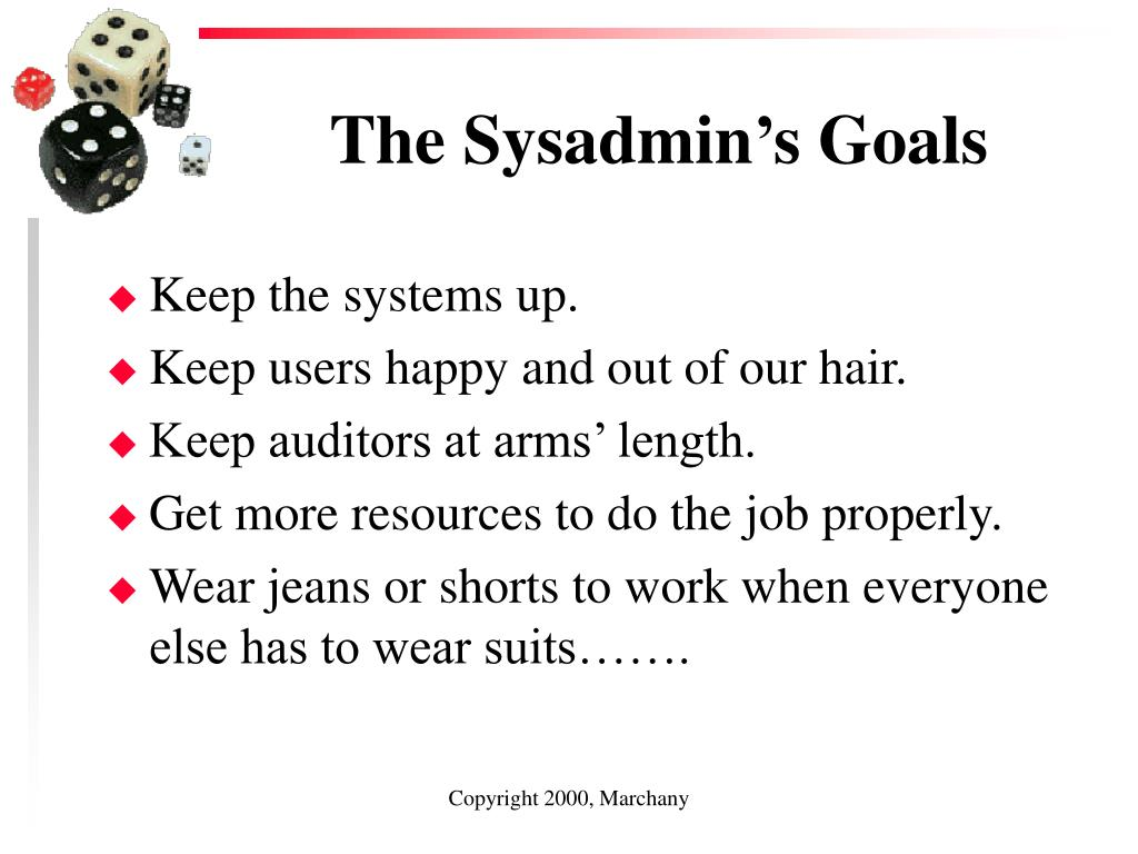 The Sysadmin's Goals