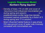 logistic regression model northern flying squirrel