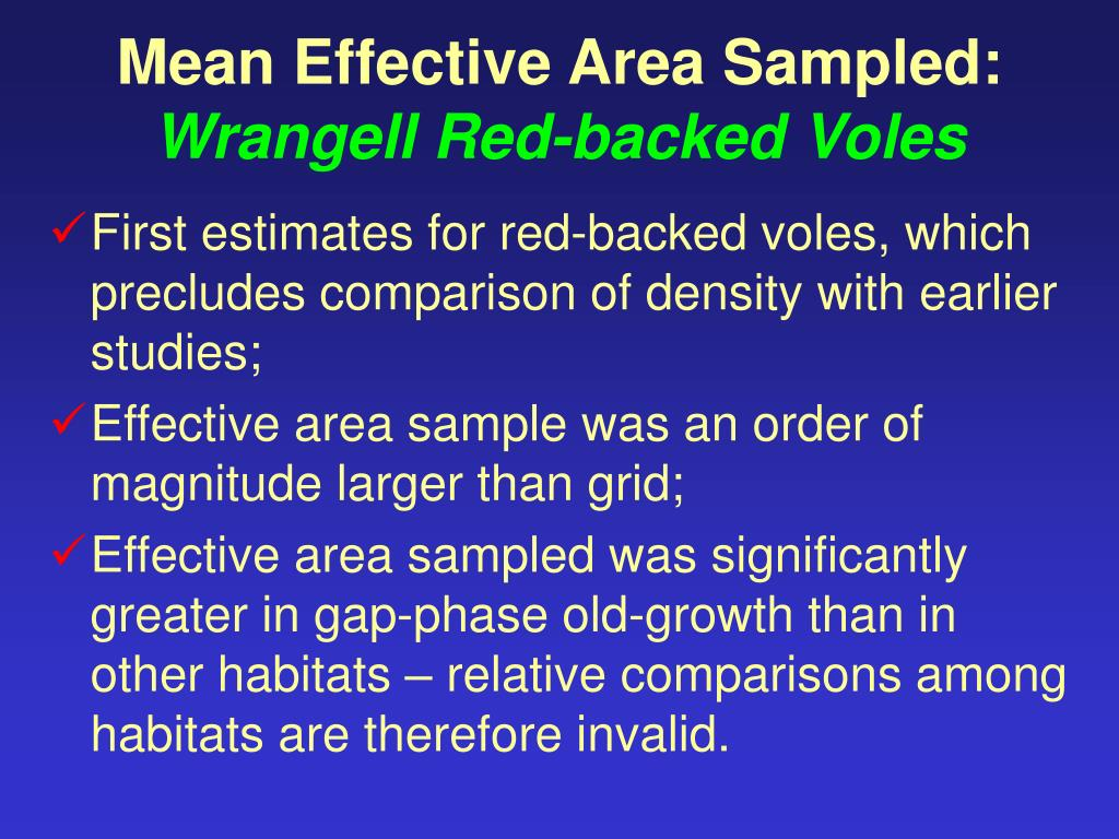 Mean Effective Area Sampled: