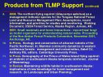 products from tlmp support continued