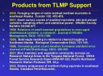 products from tlmp support