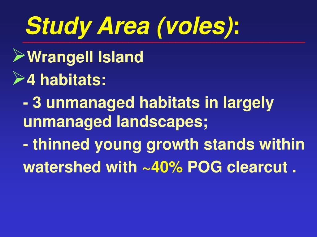 Study Area (voles)