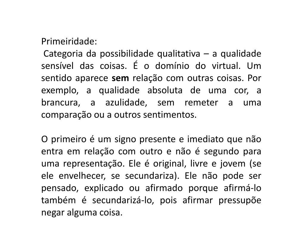 Primeiridade