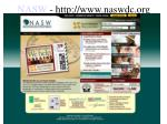 nasw http www naswdc org