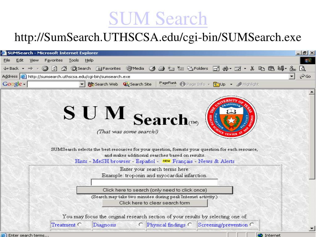 SUM Search