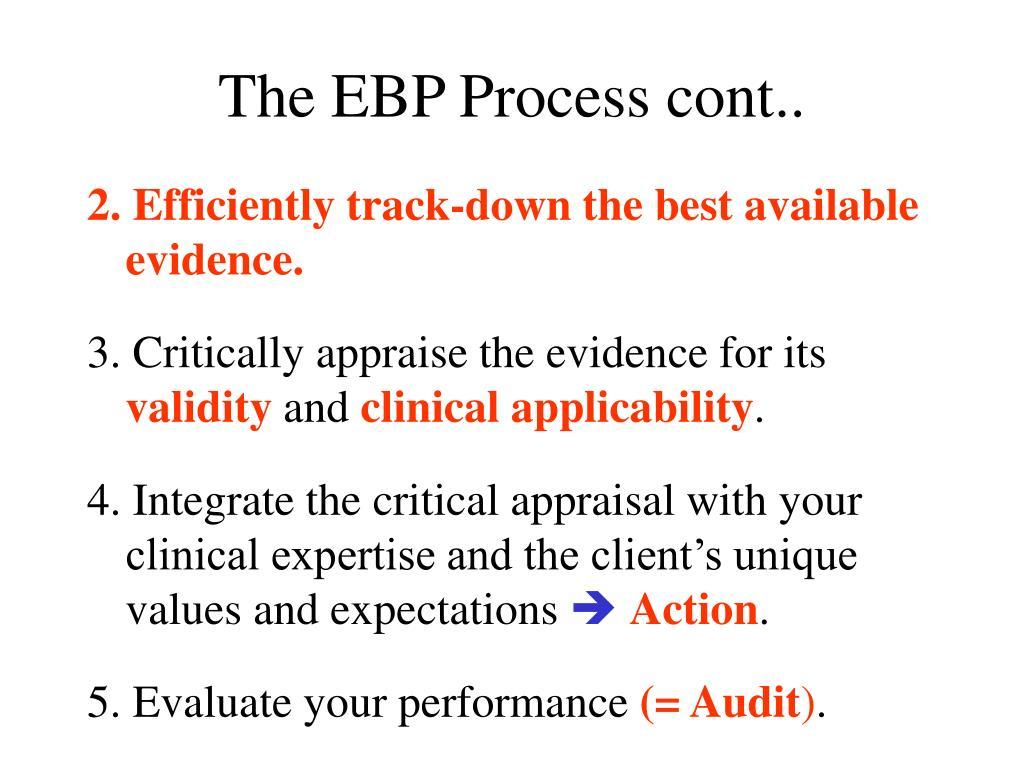 The EBP Process cont..