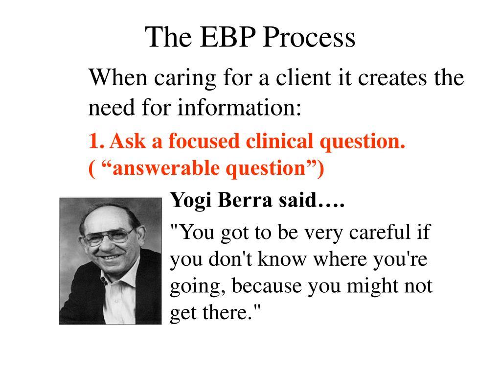 The EBP Process