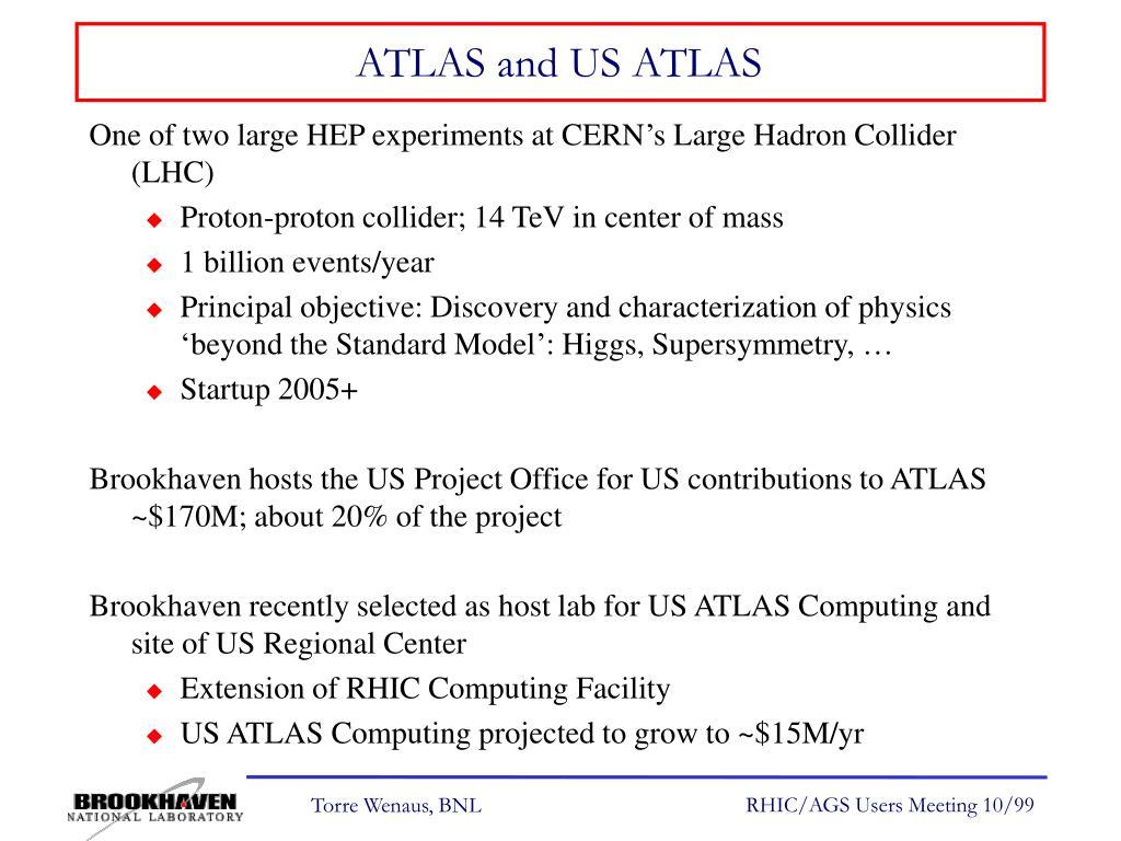 ATLAS and US ATLAS