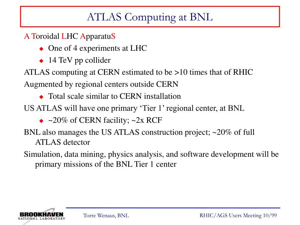 ATLAS Computing at BNL