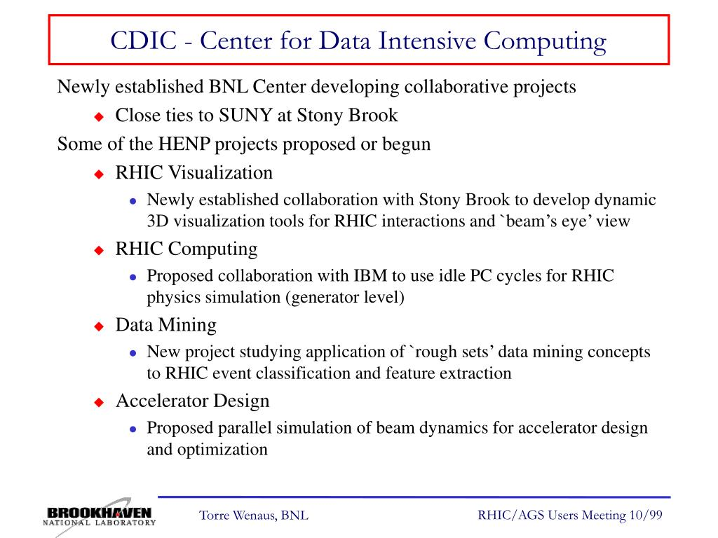 CDIC - Center for Data Intensive Computing