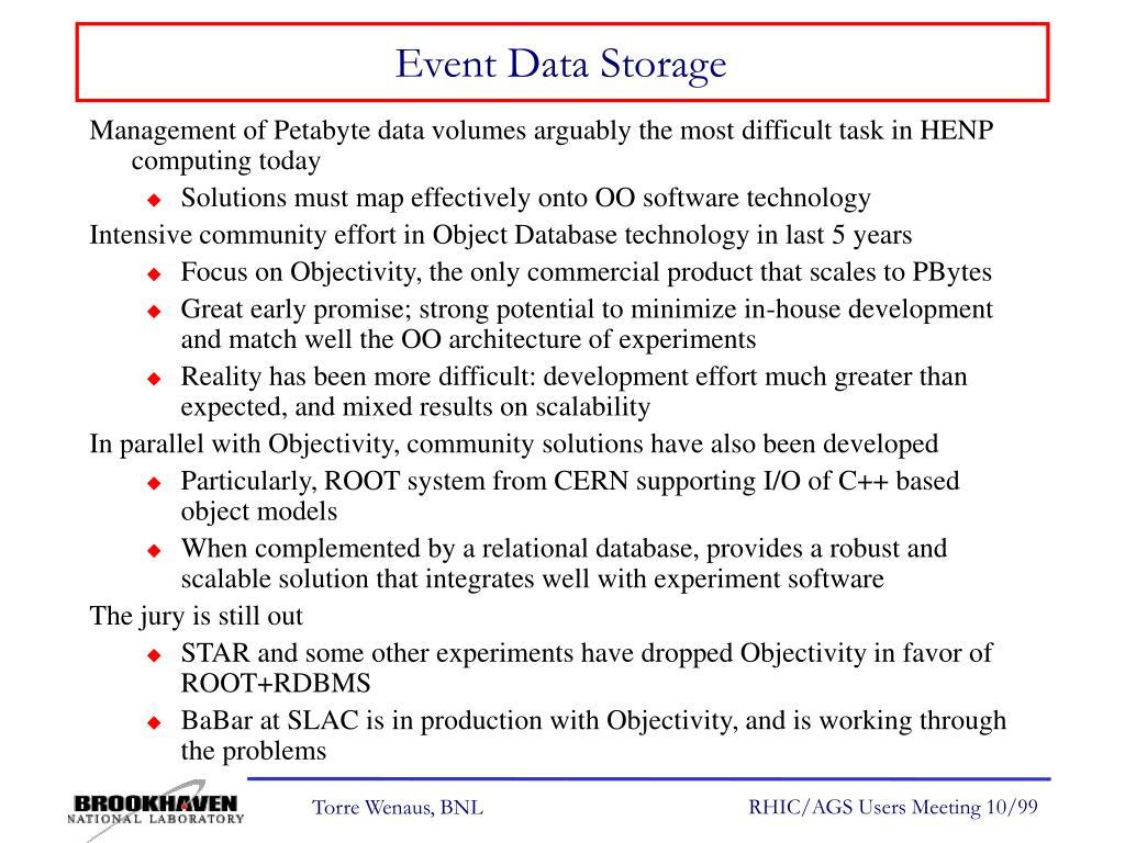 Event Data Storage