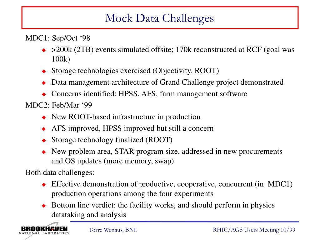Mock Data Challenges
