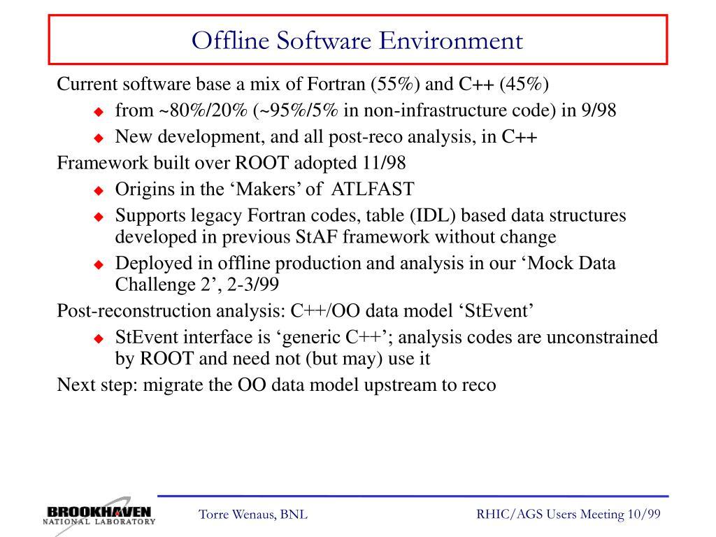 Offline Software Environment