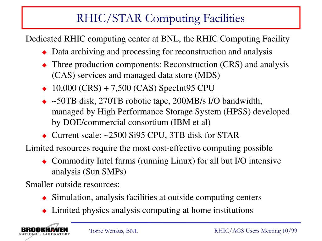 RHIC/STAR Computing Facilities