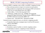 rhic star computing facilities