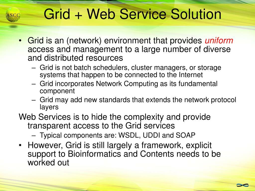 Grid + Web Service Solution