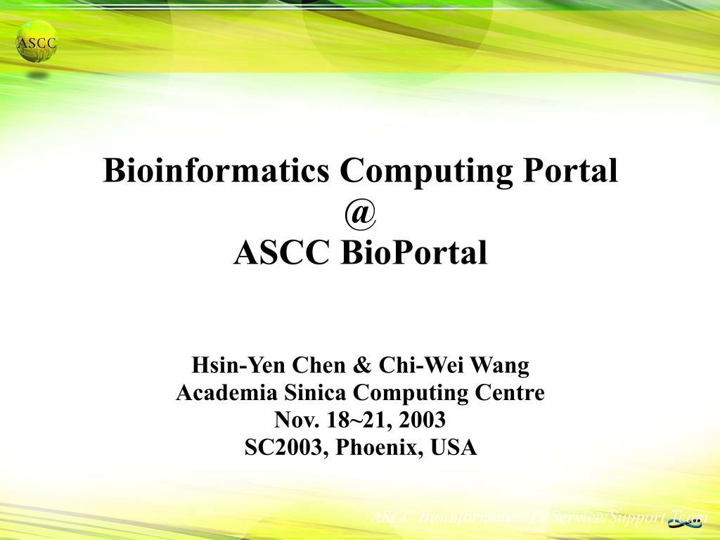 Bioinformatics Computing Portal
