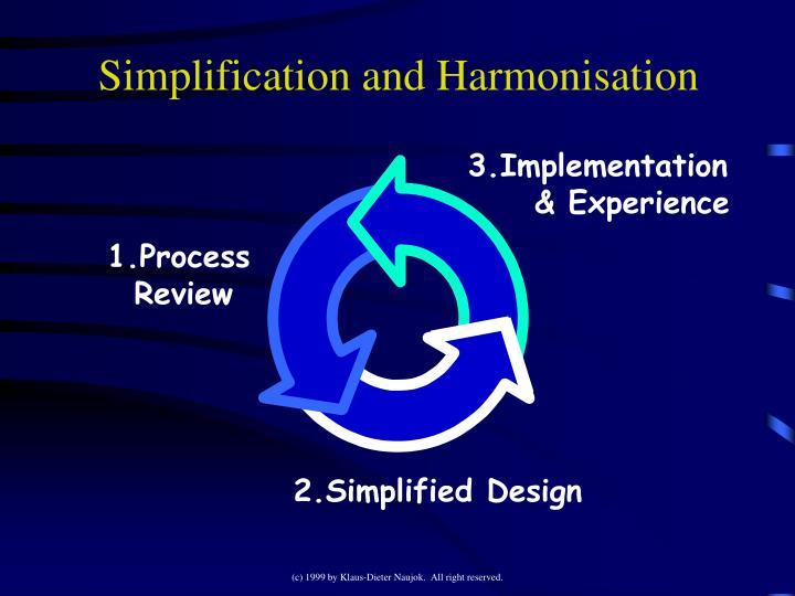 Simplification and Harmonisation
