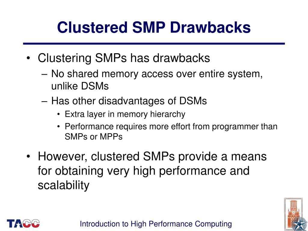 Clustered SMP Drawbacks