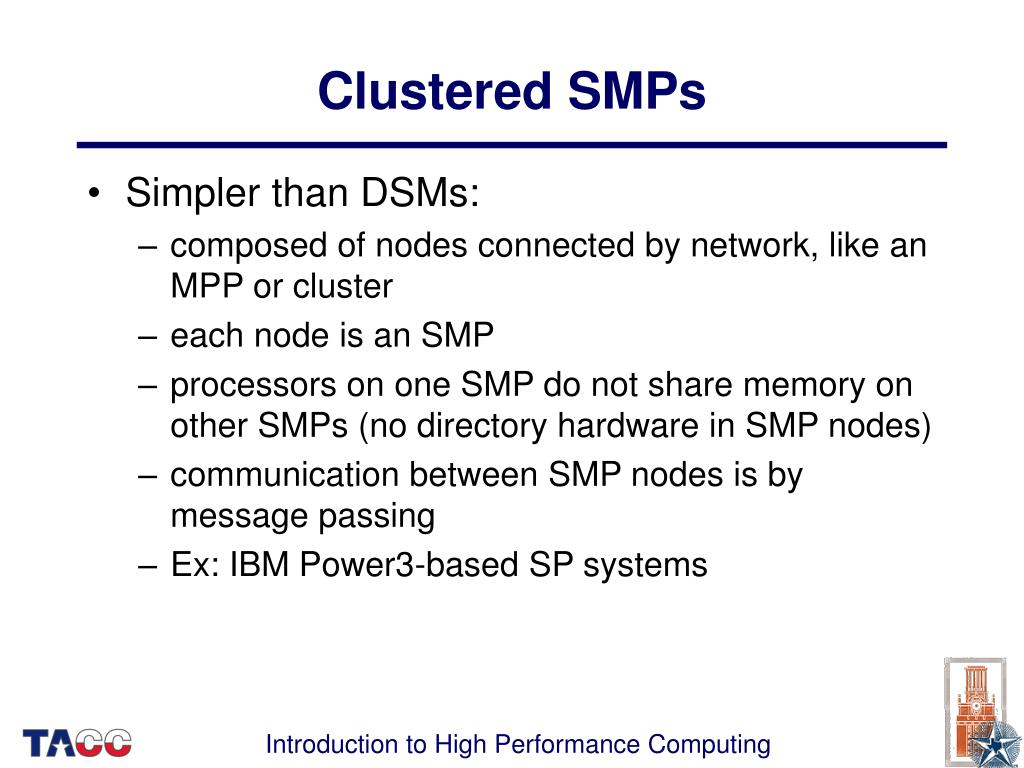 Clustered SMPs