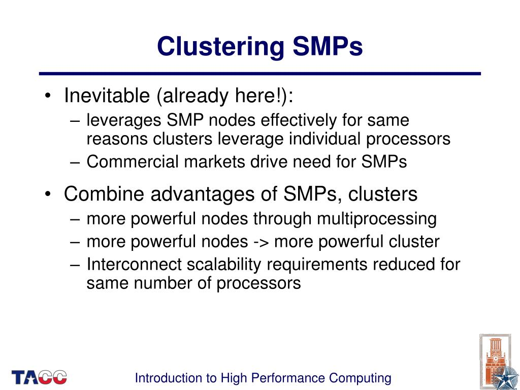 Clustering SMPs