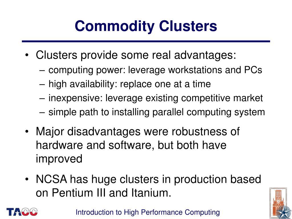 Commodity Clusters