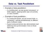 data vs task parallelism