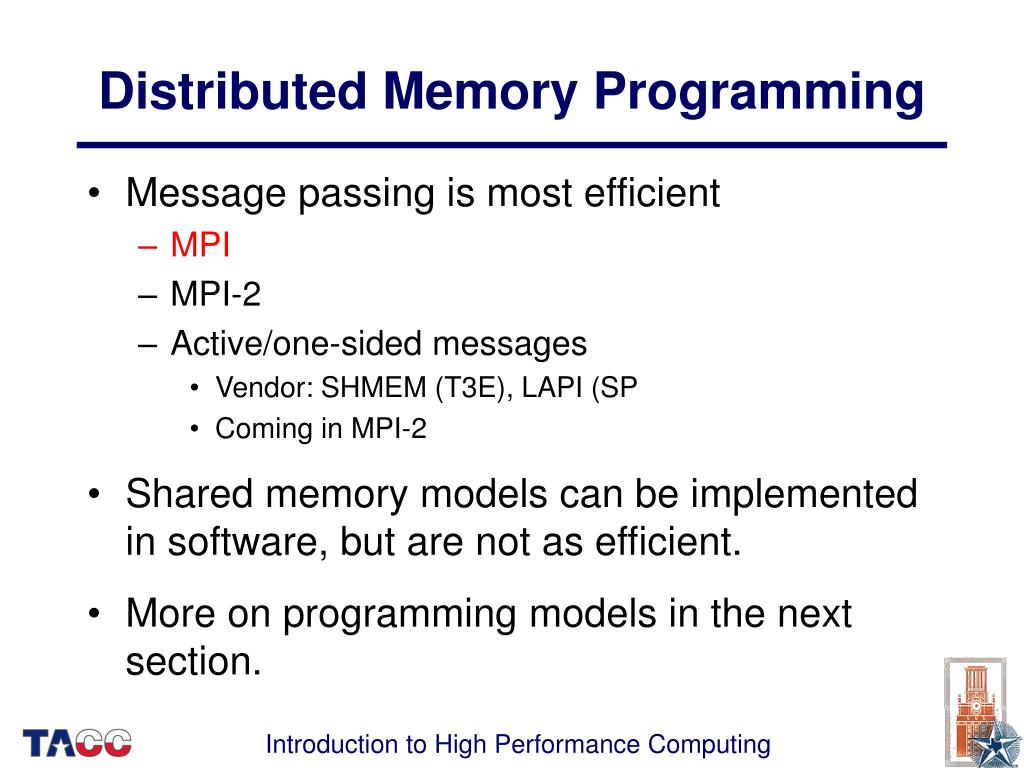 Distributed Memory Programming
