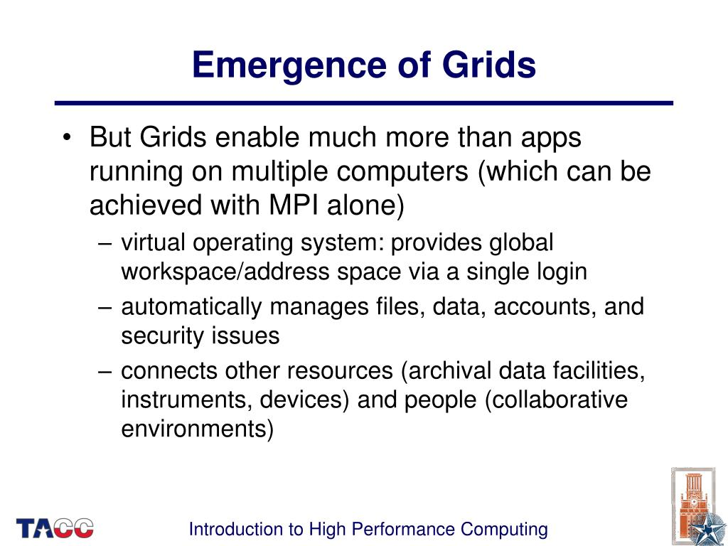 Emergence of Grids