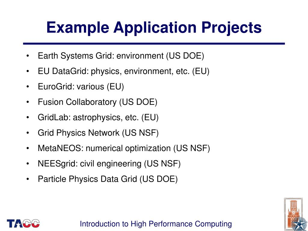Example Application Projects
