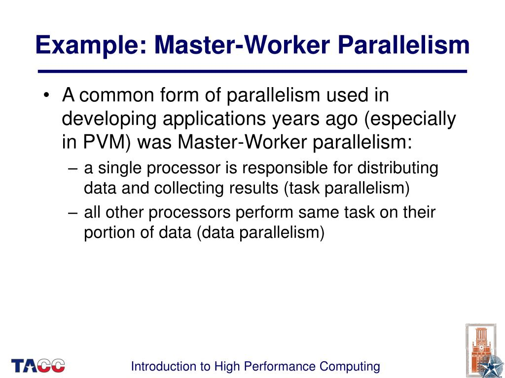 Example: Master-Worker Parallelism
