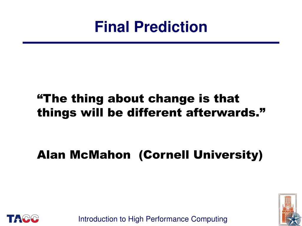Final Prediction