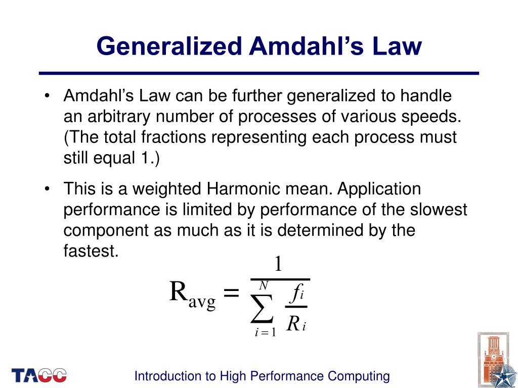 Generalized Amdahl's Law