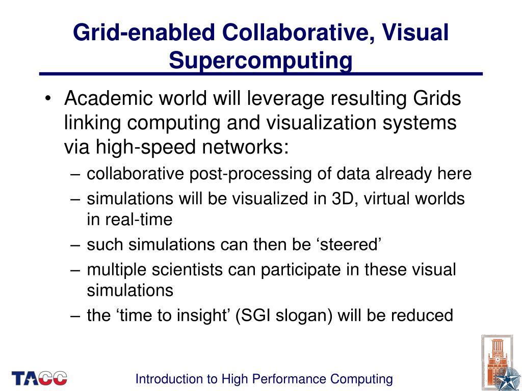 Grid-enabled Collaborative, Visual Supercomputing