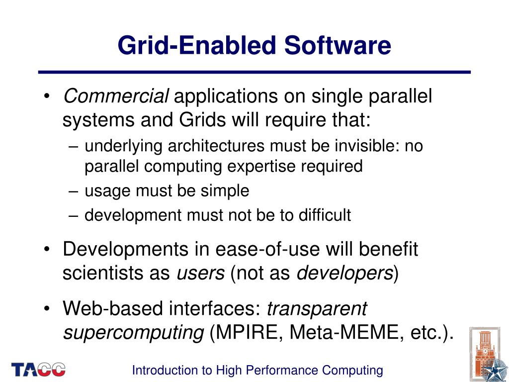 Grid-Enabled Software
